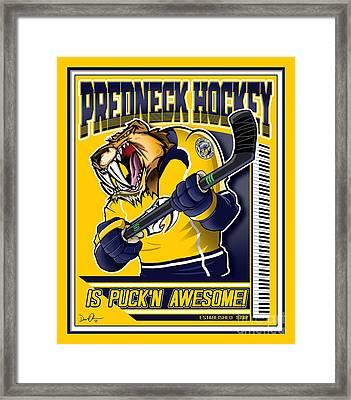 Predneck Hockey Framed Print