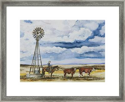 Preg Check Framed Print by Laurie Tietjen