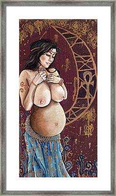 Pregnant Lilith Framed Print by Mani Price