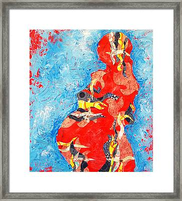 Pregnant Number 1 Framed Print by Sara Zimmerman