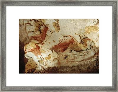 Prehistoric Artists Painted Robust Framed Print by Sisse Brimberg