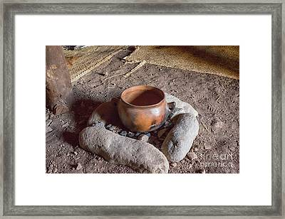 Framed Print featuring the photograph Prehistoric Cooking  by Patricia Hofmeester