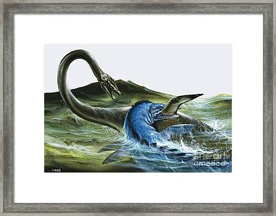 Prehistoric Creatures Framed Print