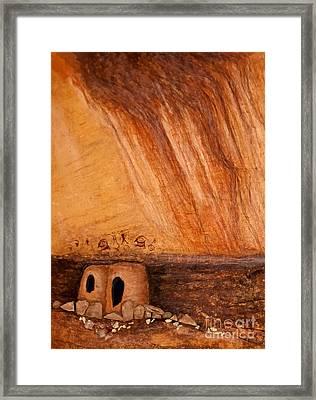 Prehistoric Rock Art Framed Print by Janice Rae Pariza