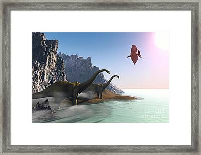 Prehistoric World Framed Print by Corey Ford
