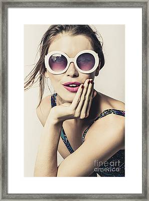 Premium Vintage Fashion Photo Framed Print
