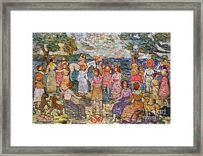 Prendergast: Beach, 1916 Framed Print by Granger