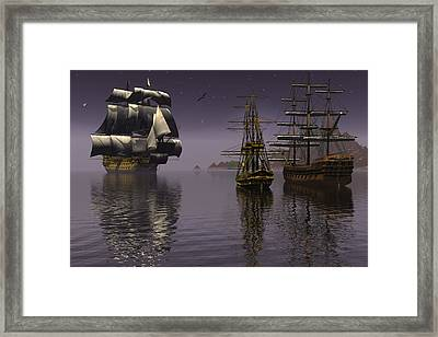 Prepare To Drop Anchor Framed Print by Claude McCoy