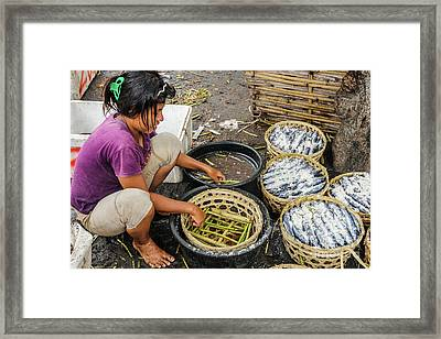Preparing Pindang Tongkol Framed Print by Werner Padarin