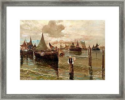 Preparing The Trap Framed Print
