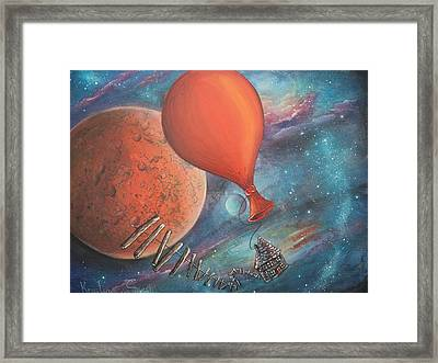 Preparing To Land Framed Print