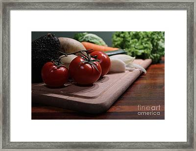 Preparing Vegetables For Cooking Food Framed Print