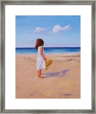 Framed Print featuring the painting Precious Moment by Laura Lee Zanghetti
