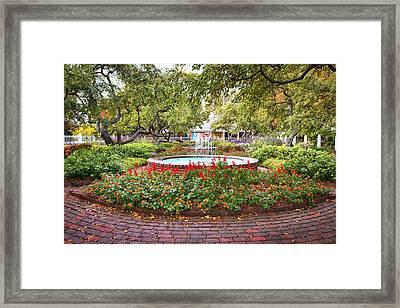 Prescott Park Garden Foliage Framed Print by Eric Gendron