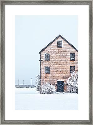 Prescott Park Winter Framed Print by Eric Gendron