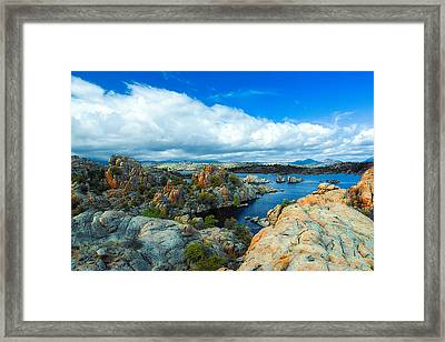 Prescott Rocks Framed Print