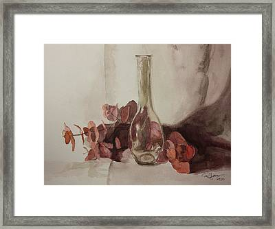 Framed Print featuring the painting Presence by Rachel Hames