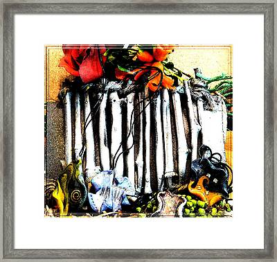 Presentation In Nature Framed Print by Chara Giakoumaki