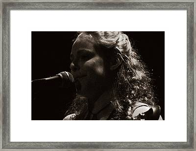 Framed Print featuring the photograph Presenting Ms. Rachel by Karen Musick