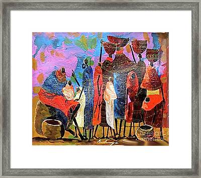 Presents For The New Born Framed Print by Martin Bulinya