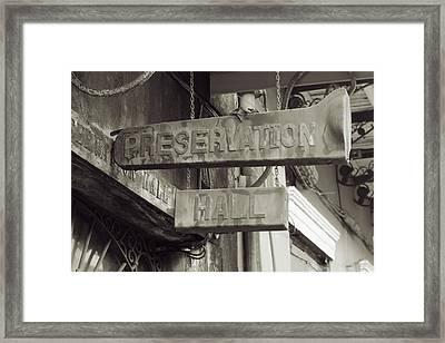 Preservation Hall, French Quarter, New Orleans, Louisiana Framed Print