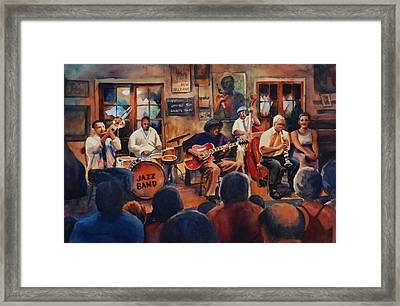 Preservation Hall Jazz Band Framed Print by Sue Zimmermann