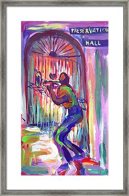 Preservation Hall New Orleans Framed Print by Saundra Bolen Samuel