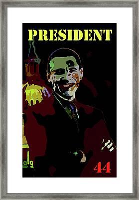 President 44 Framed Print by Art Dreams