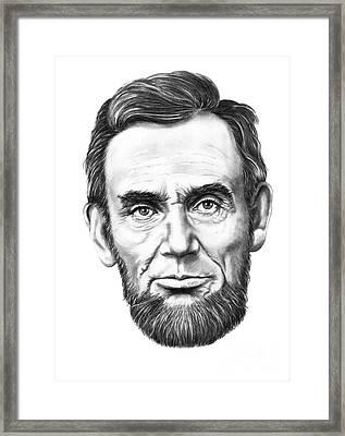 President Abe Lincoln Framed Print by Murphy Elliott