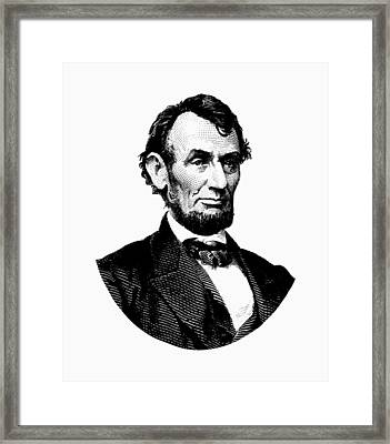 President Abraham Lincoln Graphic Framed Print by War Is Hell Store