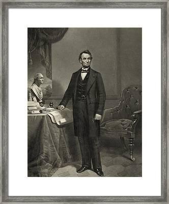 President Abraham Lincoln Framed Print by International  Images
