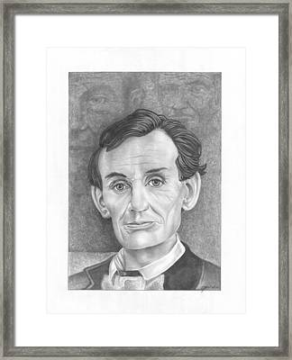 President  Abraham Lincoln Framed Print by Julian  B