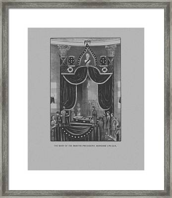 President Abraham Lincoln Lying In State Framed Print