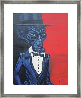 President Alienham Lincoln Framed Print