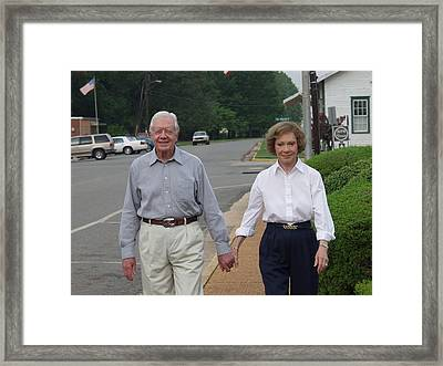 President And Mrs. Jimmy Carter Framed Print by Jerry Battle