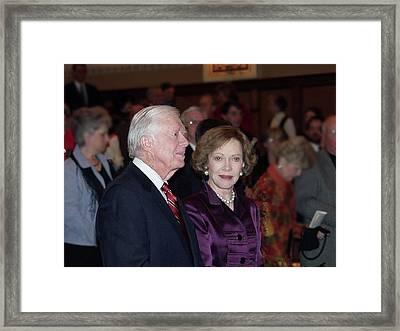 President And Mrs. Jimmy Carter Nobel Celebration Framed Print