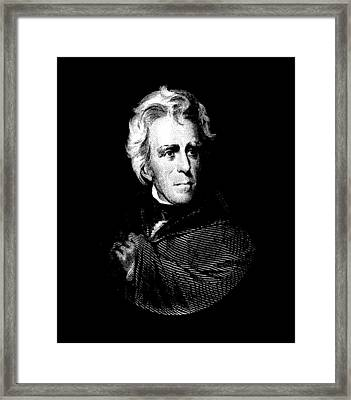 President Andrew Jackson Graphic Framed Print by War Is Hell Store
