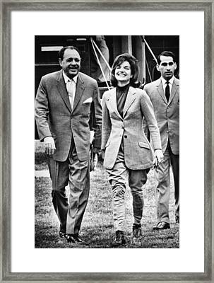 President Ayub Khan Left, Of Pakistan Framed Print