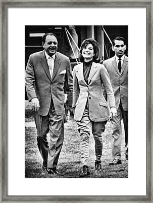 President Ayub Khan Left, Of Pakistan Framed Print