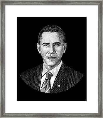 President Barack Obama Graphic Framed Print
