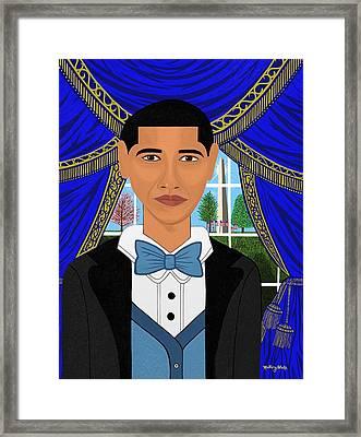 President Barack Obama Framed Print by Mallory Blake