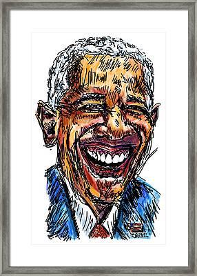 President Barack Obama Framed Print by Robert Yaeger