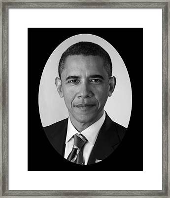 President Barack Obama Framed Print by War Is Hell Store