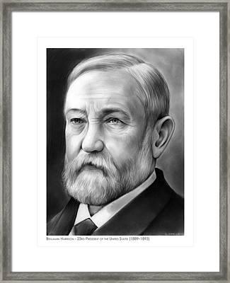 President Benjamin Harrison Framed Print by Greg Joens
