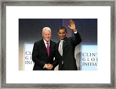 President Bill Clinton, President Framed Print by Everett