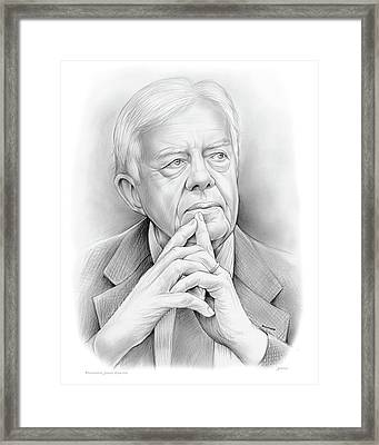 President Carter Framed Print by Greg Joens
