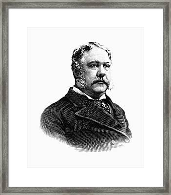 President Chester Arthur Graphic Framed Print by War Is Hell Store