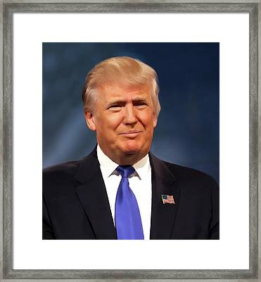 President Donald John Trump Portrait Framed Print