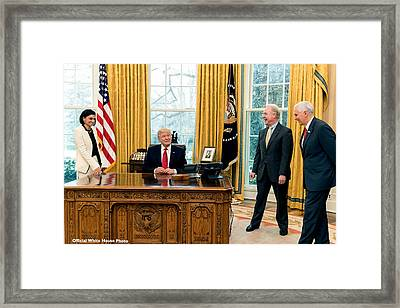 President Donald Trump Framed Print by Charles Shoup