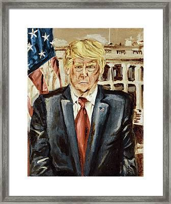 President Donald Trump Framed Print